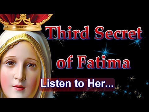 THIRD SECRET OF FATIMA APOSTASY -- Apparition of the Virgin Mary to Friar Elias on 3-25-2019.
