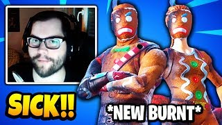 Dakotaz Reacts To *BURNT* GINGERBREAD SKINS (MERRY MAURADER & GINGER GUNNER SKIN) | Fortnite Daily