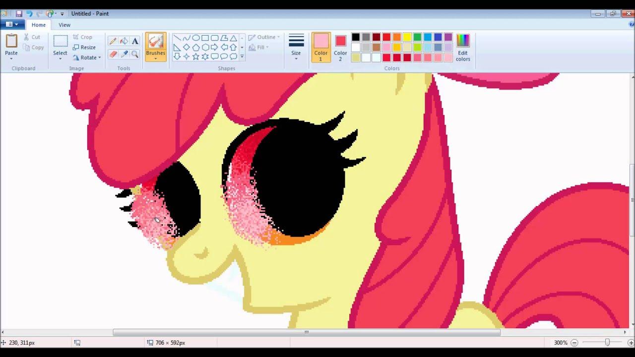 """[MLP] """"Apple Bloom"""" Speedpaint- MS Paint (HD)"""