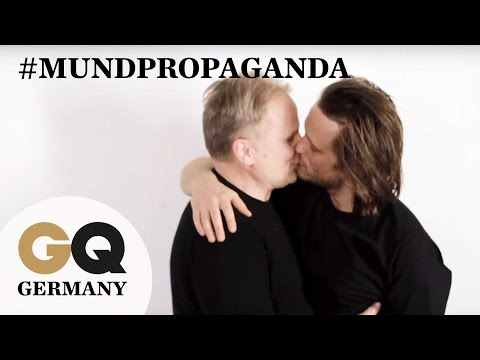 mundpropaganda straight german celebrities kiss to fight gay hate videos. Black Bedroom Furniture Sets. Home Design Ideas