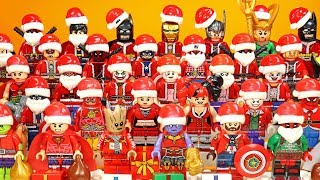 Avengers Justice League Marvel & DC Christmas Santa Superheroes Unofficial LEGO Minifigures