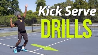 Kick Serve Drills For HUGE Spin! - Tennis Serve Lesson
