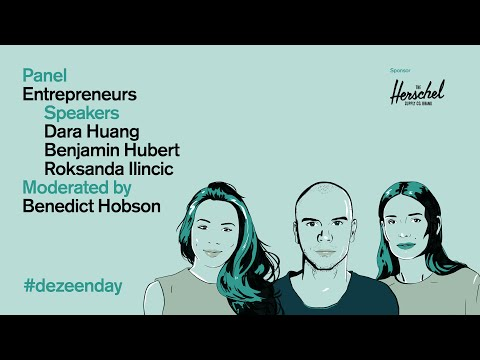 Watch the video of the discussion on how to be an entrepreneur at Dezeen Day   Dezeen Day 2019