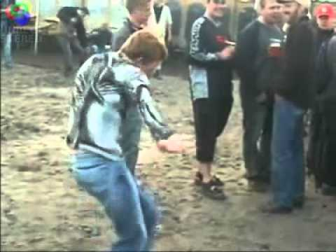 Very Funny Retarded Ginger Kid Dancing At Techno Concert
