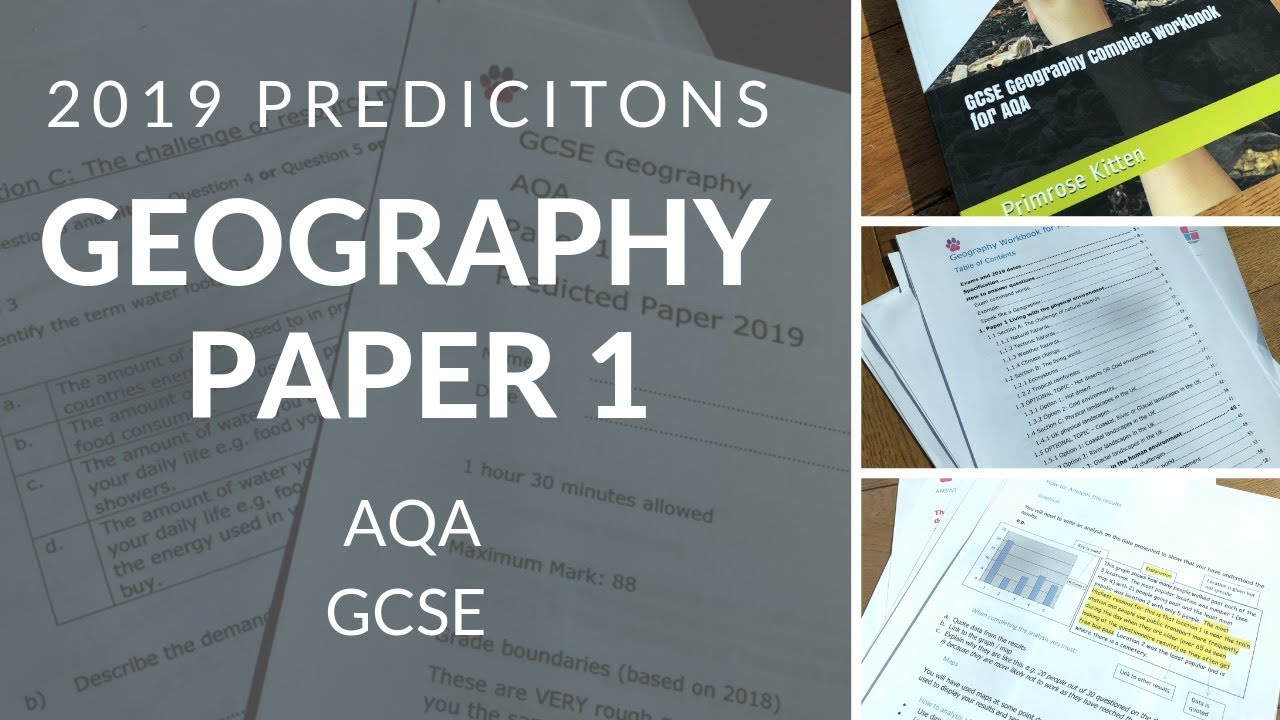 AQA 2019 Predictions   Geography Paper 1