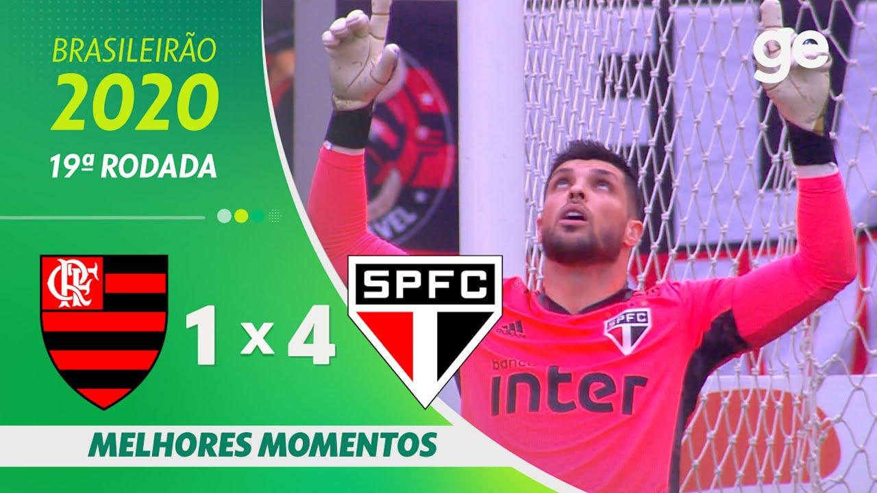 Flamengo 1 X 4 Sao Paulo Melhores Momentos 19ª Rodada Brasileirao 2020 Ge Globo Youtube