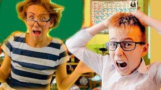 Мама как злой учитель Балди Веселый ЧЕЛЛЕНДЖ в ШКОЛЕ для детей и родителей Что делать на Каникулах?