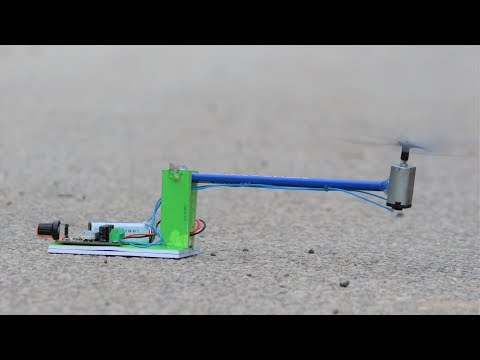 How to make a Flying Helicopter Drone -  From DC Motor - US