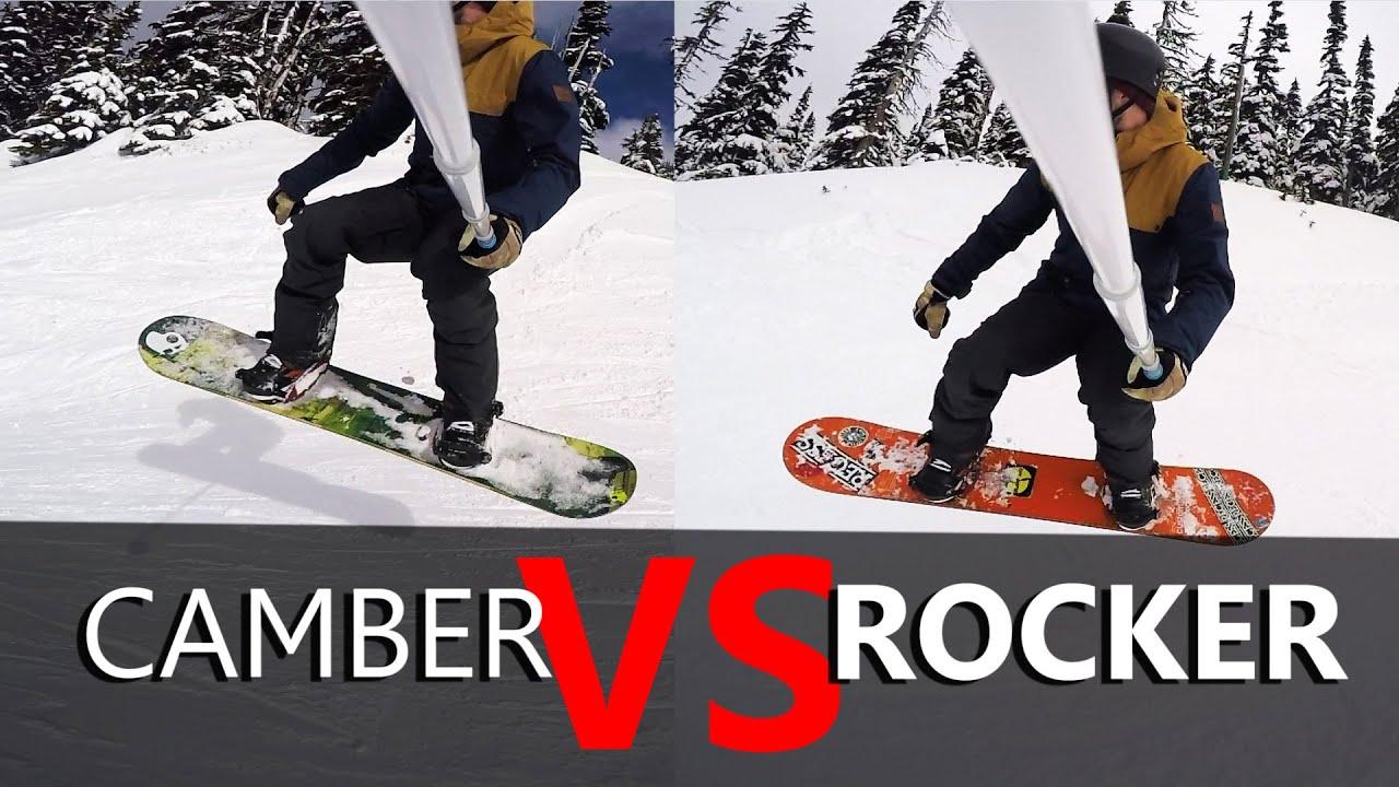 59fa8520a6eb Camber VS Rocker Snowboard Test - YouTube