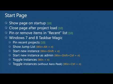 TechEd Europe 2012 Visual Studio Tips & Tricks