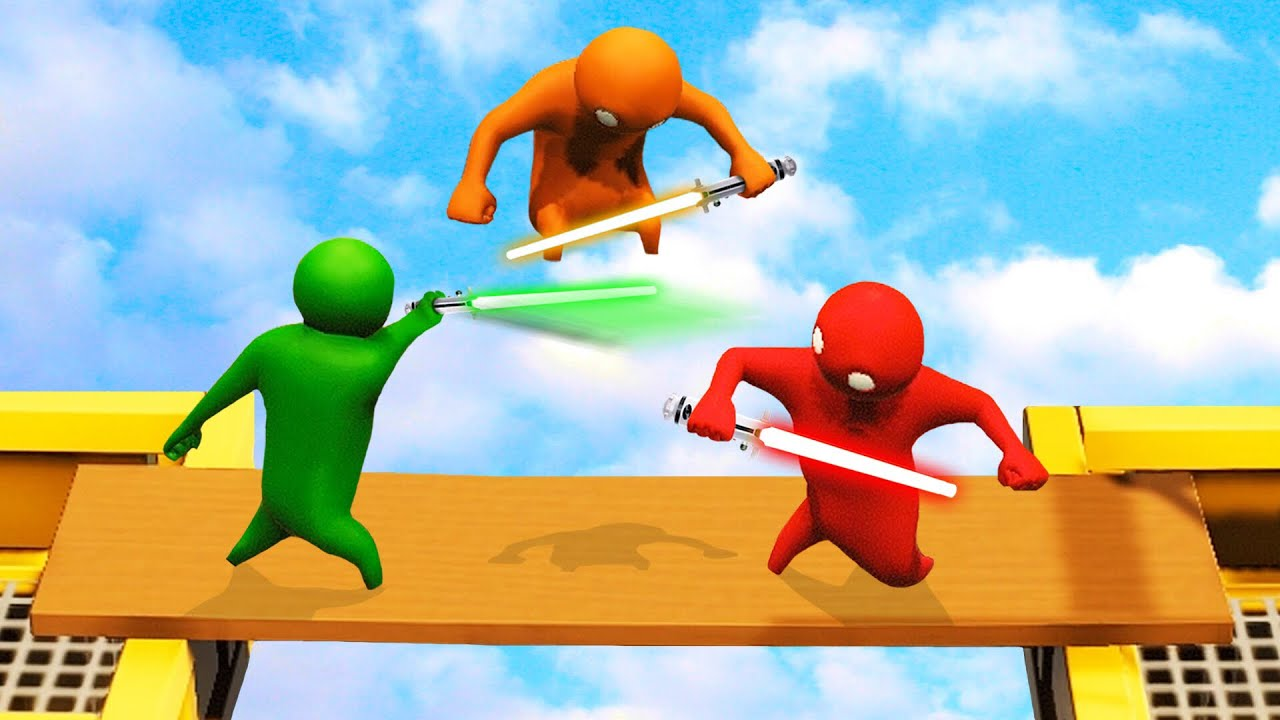 LIGHTSABERS IN GANG BEASTS?! (Gang Beasts)