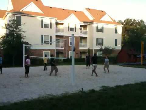 AICPA volleyball at lodge