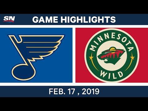 NHL Highlights | Blues vs. Wild - Feb 17, 2019