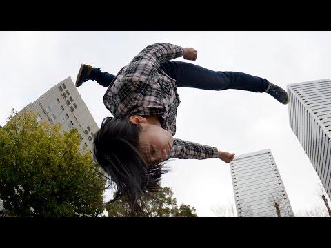 街を跳躍する現代の忍者「パルクール」