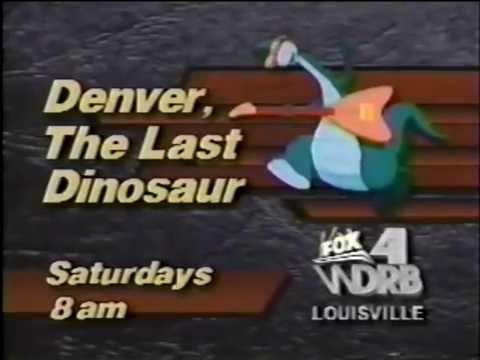 WDRB Denver the Last Dinosaur promo, 1989