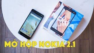 Mở hộp Nokia 2.1: smartphone giá rẻ, pin khủng 4000mAh, loa kép, Android 8.1 Oreo (phiên bản Go)