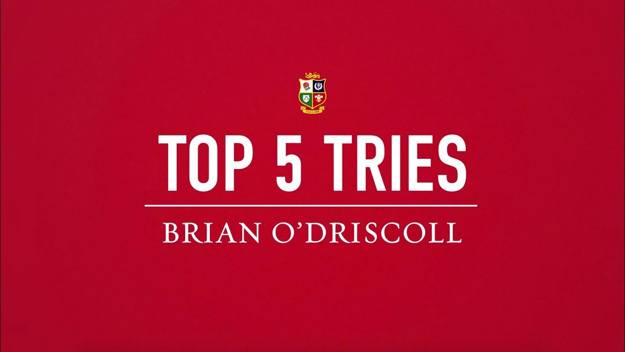Top Lions Tries   Brian O'Driscoll's Top 5 Tries