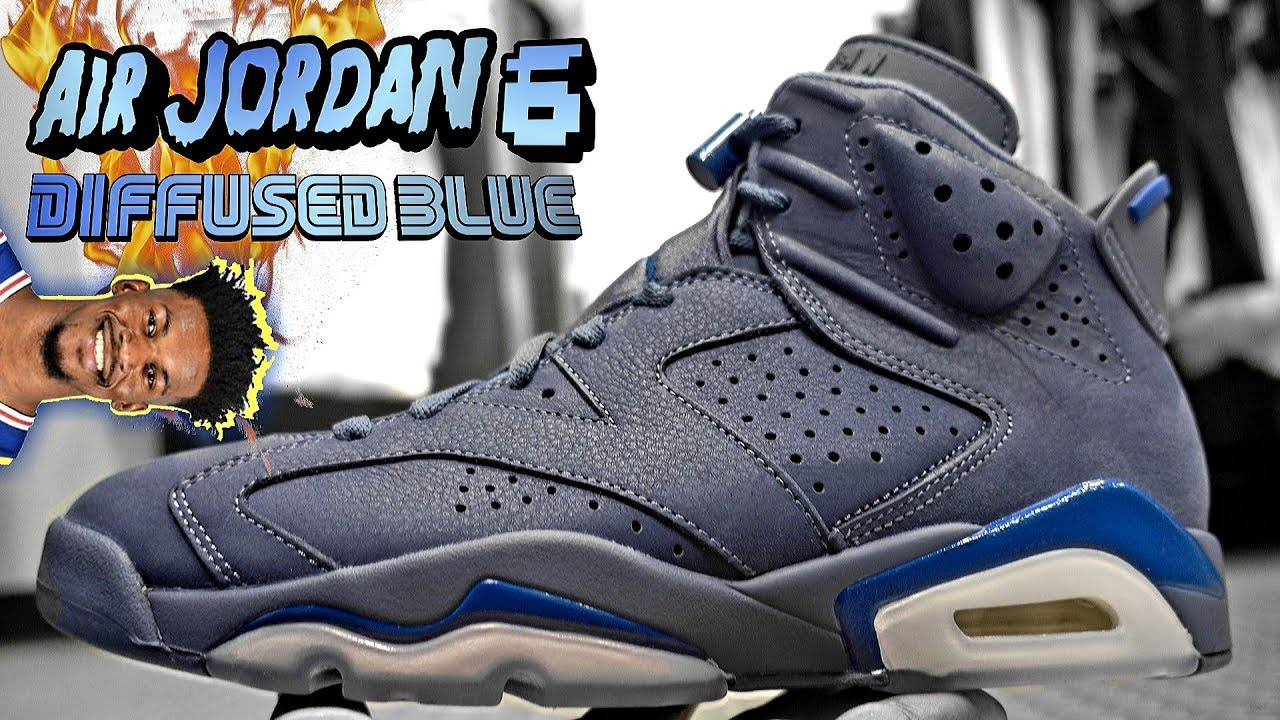 5177d15ce2d Air Jordan 6 Diffused Blue aka Jimmy Butler In 4k HD - YouTube