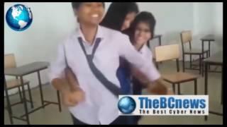 Indian School Student Enjoy Last Day in School Classroom Masti