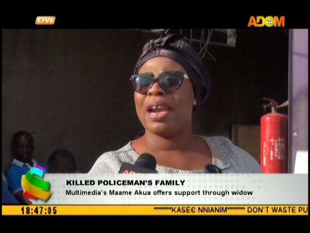 Multimedia's Maame Akua offers support through widow (17-10-18)