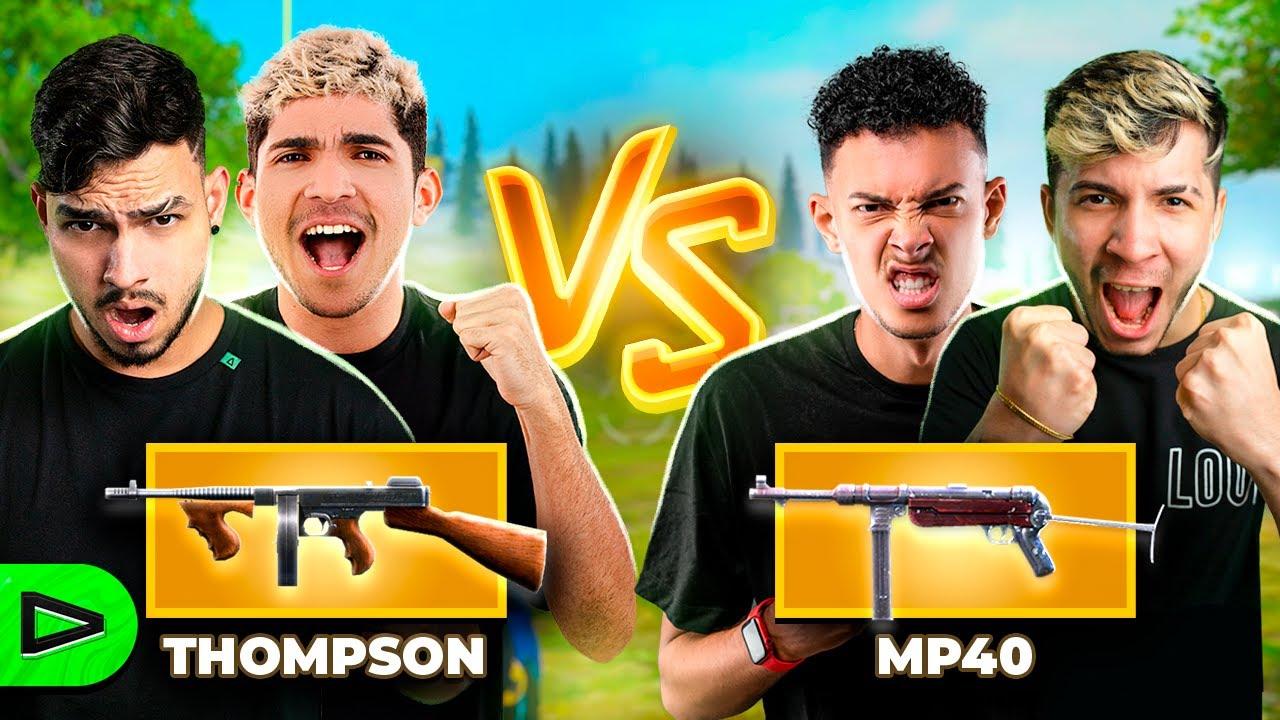 THOMPSON VS MP40! DUELO DE ARMAS NA LOUD FREE FIRE!
