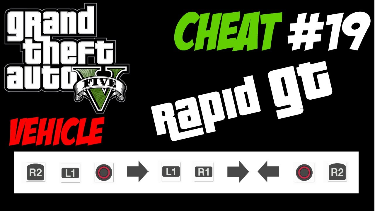 GTA 5 Trucchi 19 RAPID GT PS3 Xbox 360 HD ITA Cheat