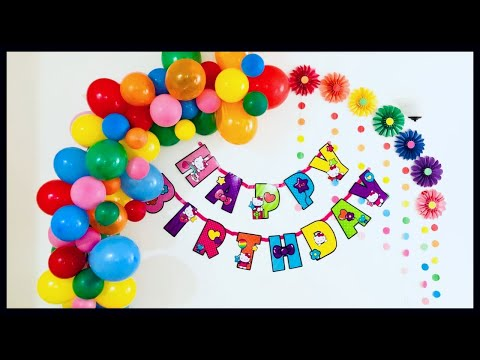 Birthday Decoration Ideas / Easy Birthday Decoration At Home / Party Decoration - Party Decorations