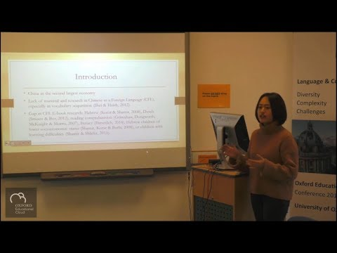 E-book's Effect on American CFL Kindergartner's Vocabulary Gain -  Yingwei Fu at OEC