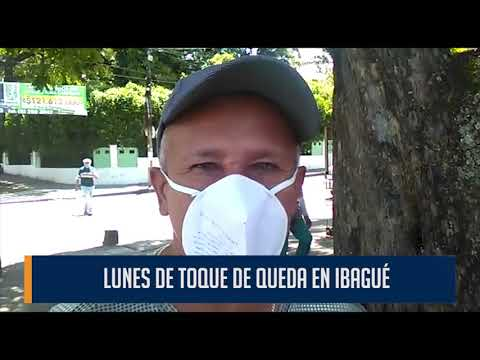 Lunes de reducida movilidad en Ibagué por cuenta del toque de queda