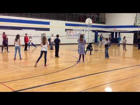 Newcomb - Modified Volleyball Game