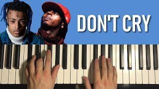 HOW TO PLAY - Lil Wayne ft. XXXTENTACION - Dont Cry (Piano Tutorial Lesson)