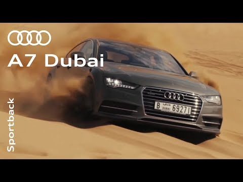 The Audi A7 Sportback in Dubai