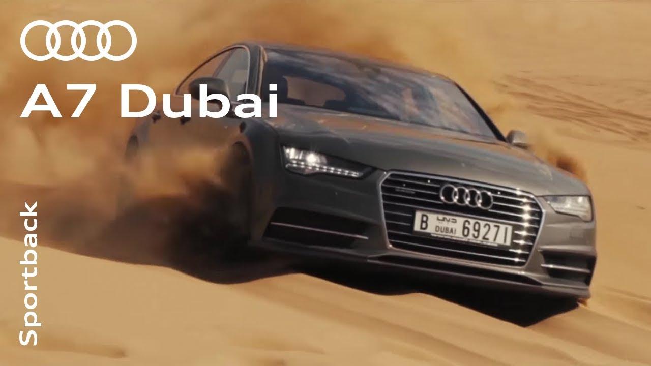 The Audi A7 Sportback In Dubai Youtube