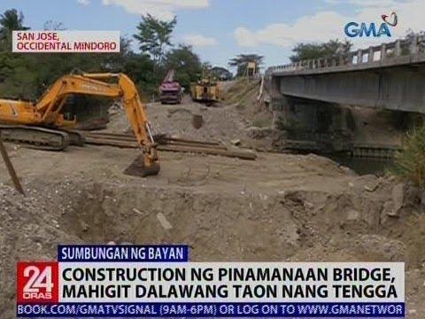 24 Oras: Construction ng Pinamanaan Bridge, mahigit 2 taon nang tengga