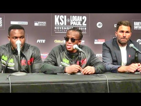 KSI press conference after beating Logan Paul by split decision