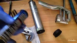 How to put togęther a Lubrimatic Mini Grease Gun and Load Cartridge