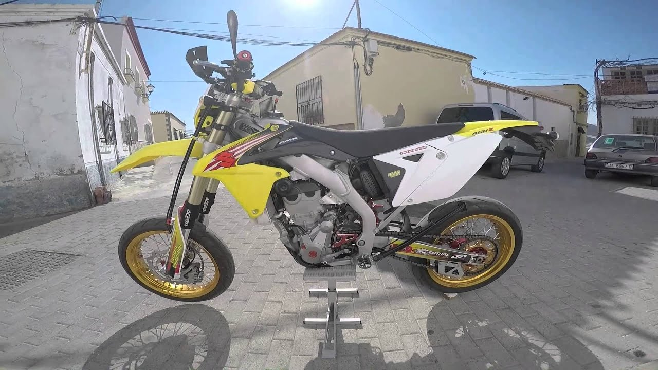 suzuki rmx 450z supermotard youtube. Black Bedroom Furniture Sets. Home Design Ideas