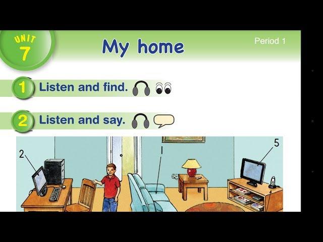 هيا نهجي ونتعلم كتابة كلمات الوحدة السابعة my home (English