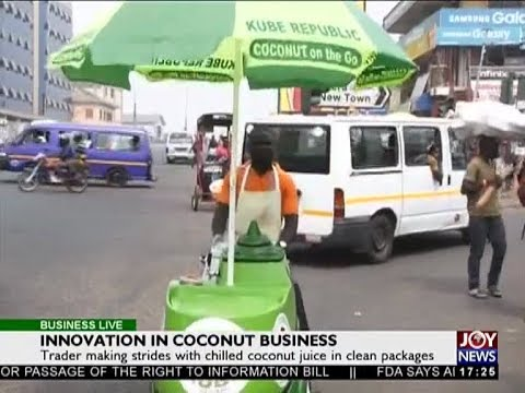 Innovation in Coconut Business - Business Live on JoyNews (8-1-18)