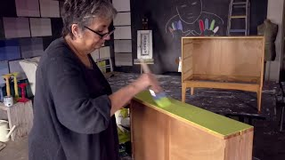Annie Sloan Mid-Century Modern Project – Part 2: Painting a smooth finish with Chalk Paint®