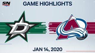 NHL Highlights   Stars vs. Avalanche – Jan. 14, 2020