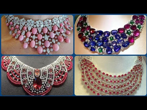 Stylish Stunning Adorable Diamond And Ruby Stones Necklaces Design's