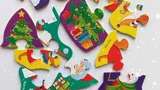 Vladi Toys VT1106 67 VT1106 68 Мягкие пазлы baby puzzle Дед Мороз и друзья, Новогодние приключения