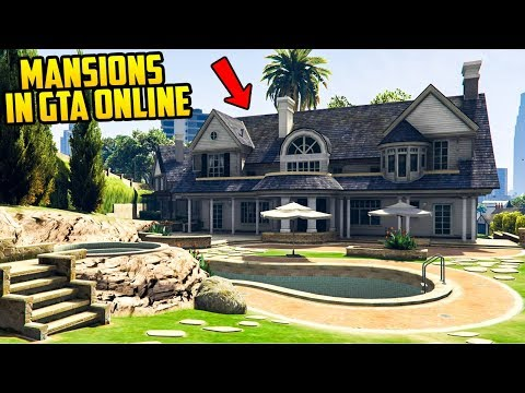 GTA ONLINE MANSIONS! One Final Heist, 50 Car Garages, Tons of Customization + More (DLC Concept)