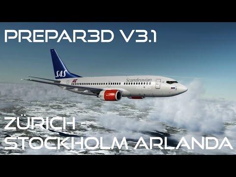 [Prepar3D v3.1/IVAO] Zürich - Stockholm Arlanda | PMDG Boeing 737-700NGX | SAS606 [German]
