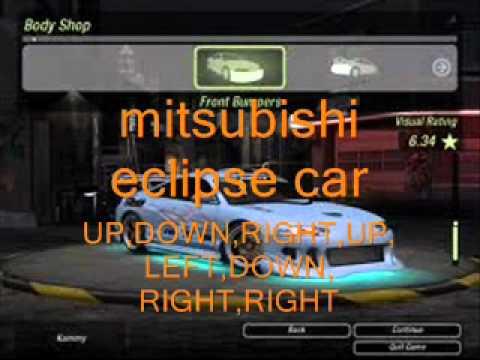 Need For Speed Underground 2 Gamecube Cheats Youtube