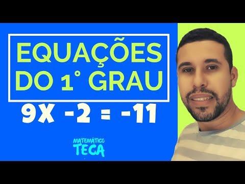 Equações do 1° grau - Matemático Teca