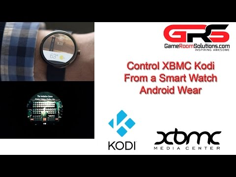 Android Wear Moto 360 Controlling XBMC Kodi with Touch and Voice