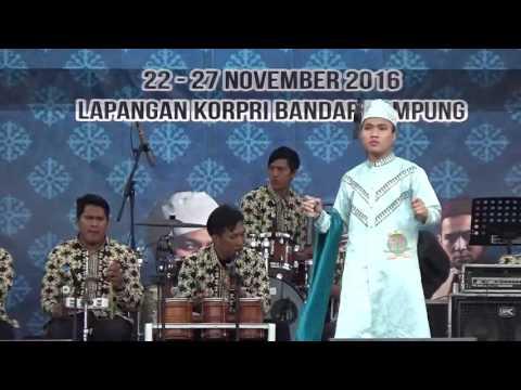 Finalis Remaja Putra 77 dari Aceh pada Festival Bintang Vokalis Seni Qasidah Nasional 2016 di Lampun