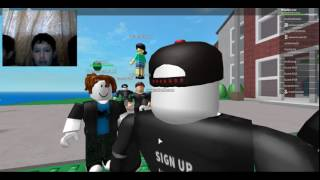 Playing a game with Mega Terrex03 in Roblox